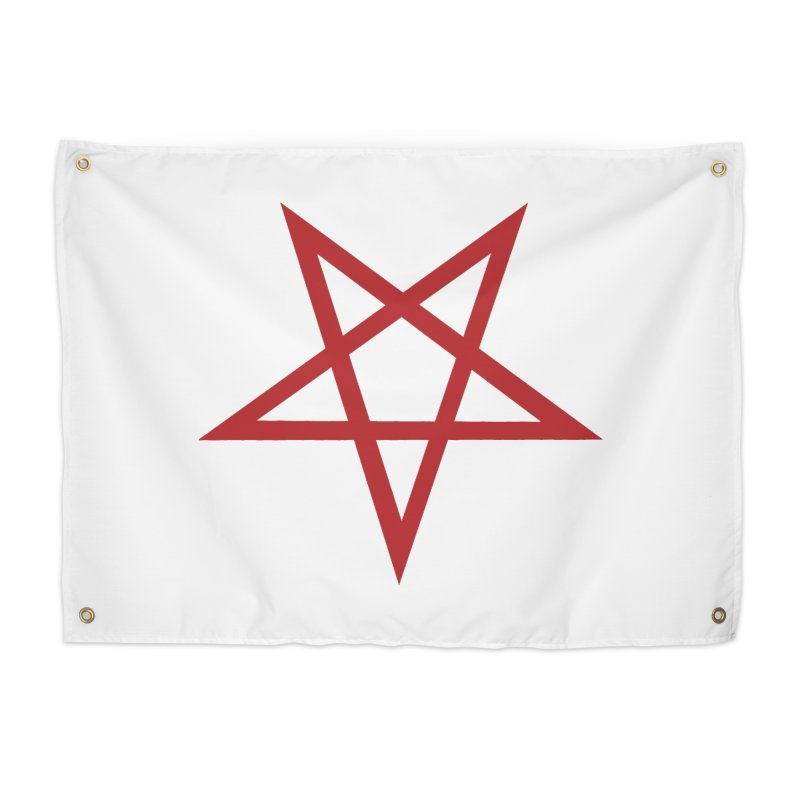 Pentagram (blood red) Home Tapestry by Pretty Hate Machining's Artist Shop