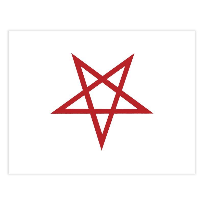 Pentagram (blood red) Home Fine Art Print by Pretty Hate Machining's Artist Shop