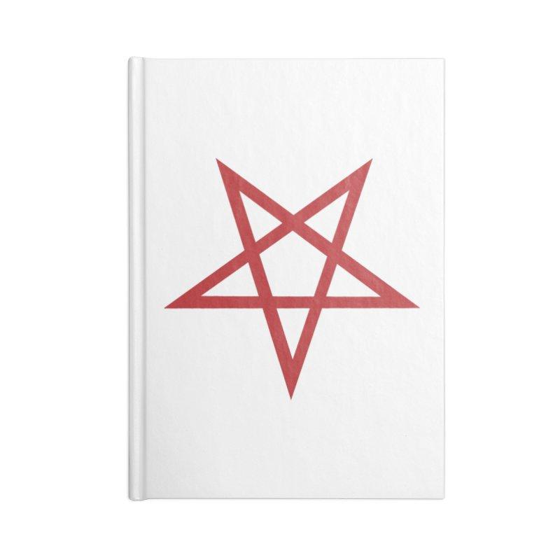 Pentagram (blood red) Accessories Notebook by Pretty Hate Machining's Artist Shop