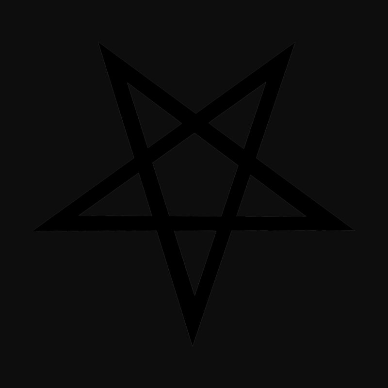 Black Pentagram (dark background) Accessories Notebook by Pretty Hate Machining's Artist Shop