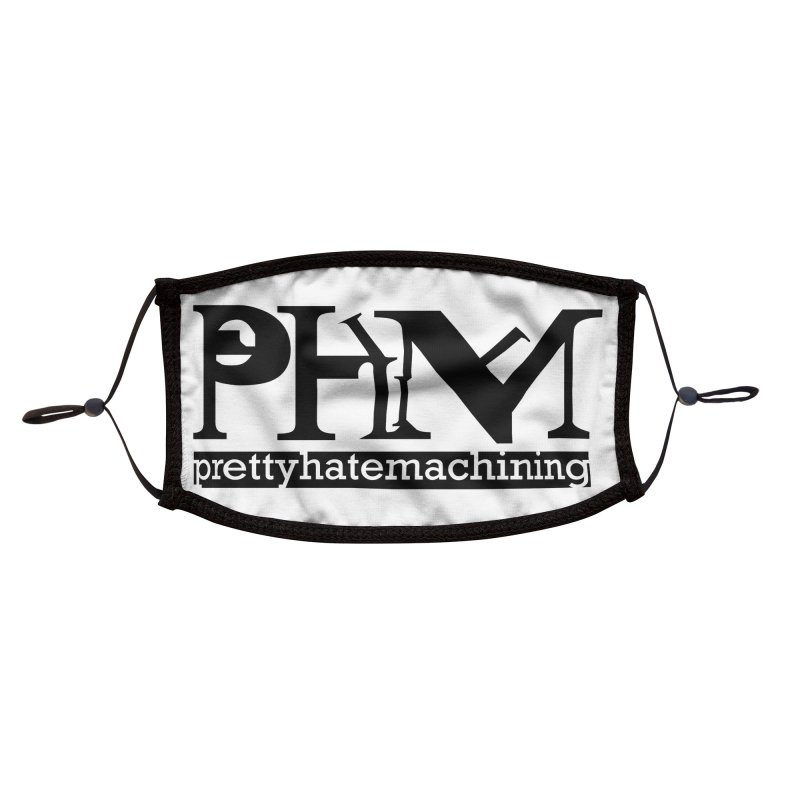 Black PHM logo Accessories Face Mask by Pretty Hate Machining's Artist Shop