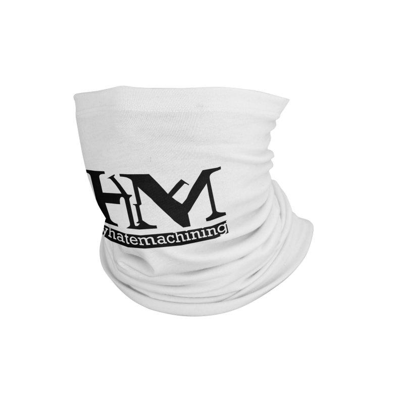 Black PHM logo Accessories Neck Gaiter by Pretty Hate Machining's Artist Shop