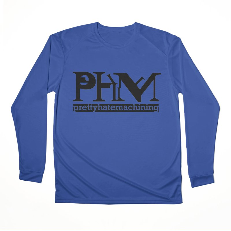 Black PHM logo Men's Performance Longsleeve T-Shirt by Pretty Hate Machining's Artist Shop