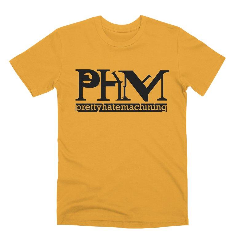 Black PHM logo Men's Premium T-Shirt by Pretty Hate Machining's Artist Shop