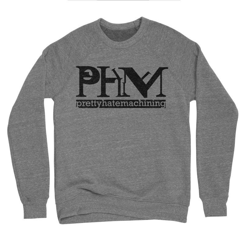 Black PHM logo Women's Sponge Fleece Sweatshirt by Pretty Hate Machining's Artist Shop