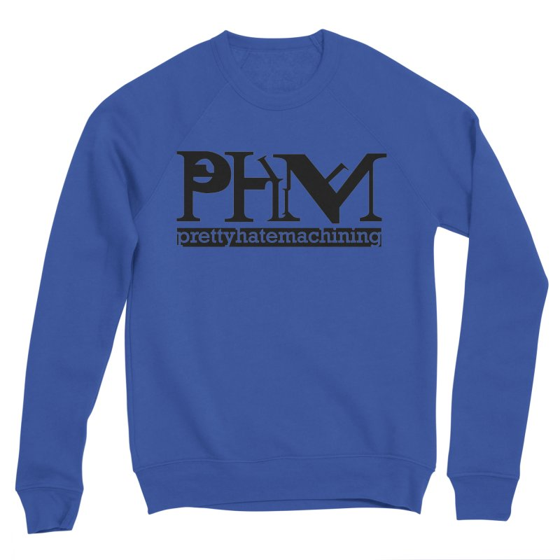 Black PHM logo Men's Sponge Fleece Sweatshirt by Pretty Hate Machining's Artist Shop
