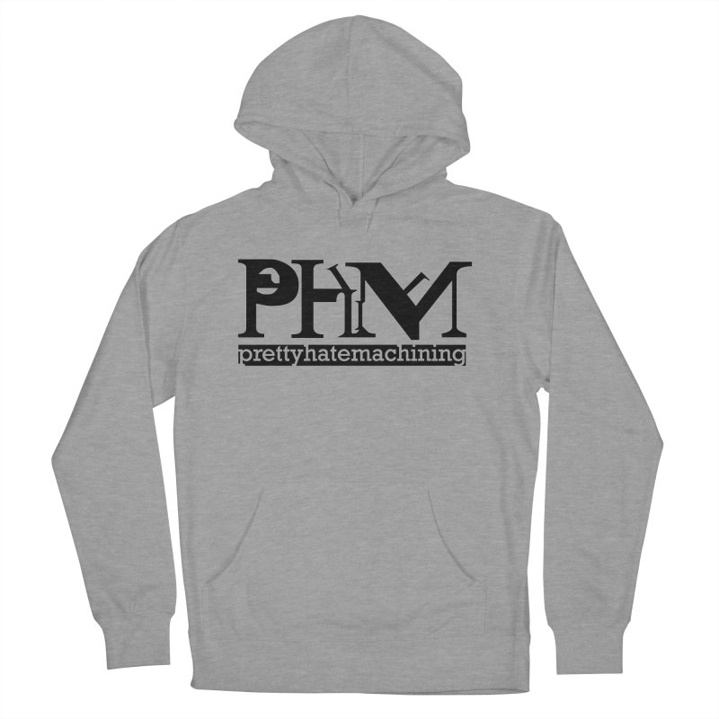 Black PHM logo Women's Pullover Hoody by Pretty Hate Machining's Artist Shop