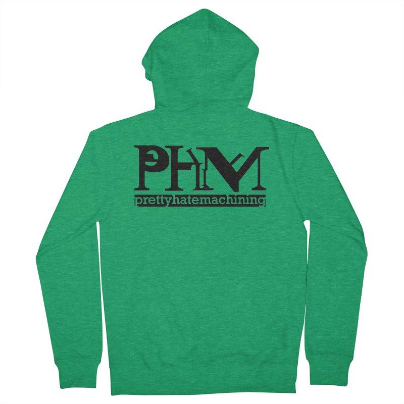 Black PHM logo Women's Zip-Up Hoody by Pretty Hate Machining's Artist Shop