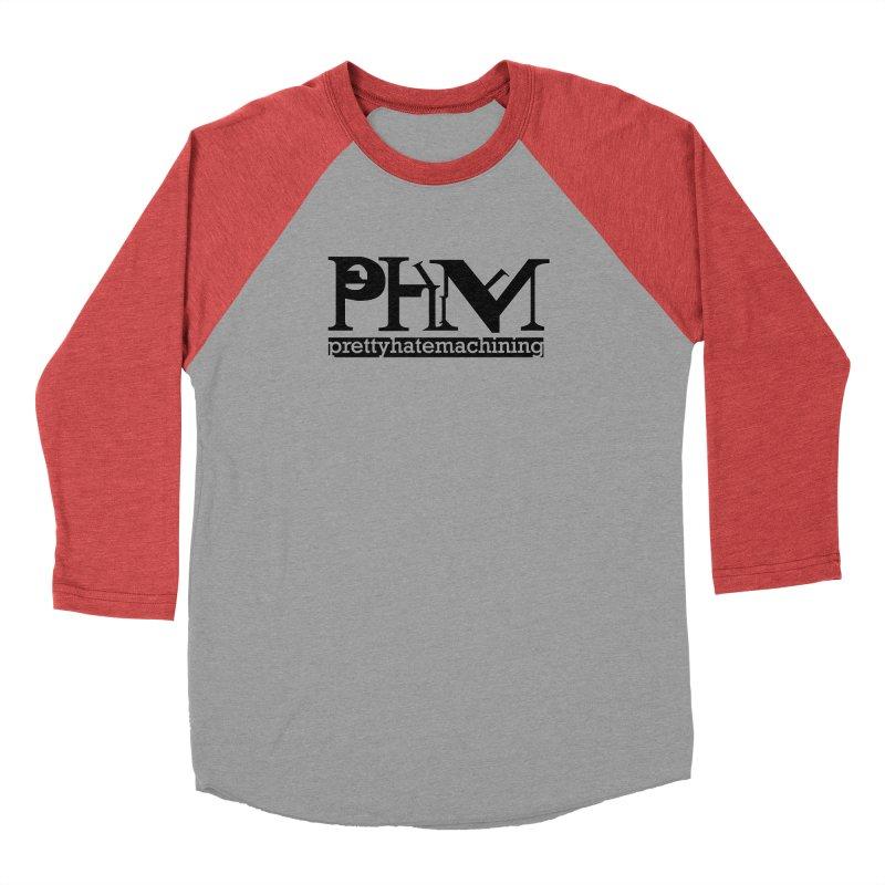 Black PHM logo Men's Baseball Triblend Longsleeve T-Shirt by Pretty Hate Machining's Artist Shop