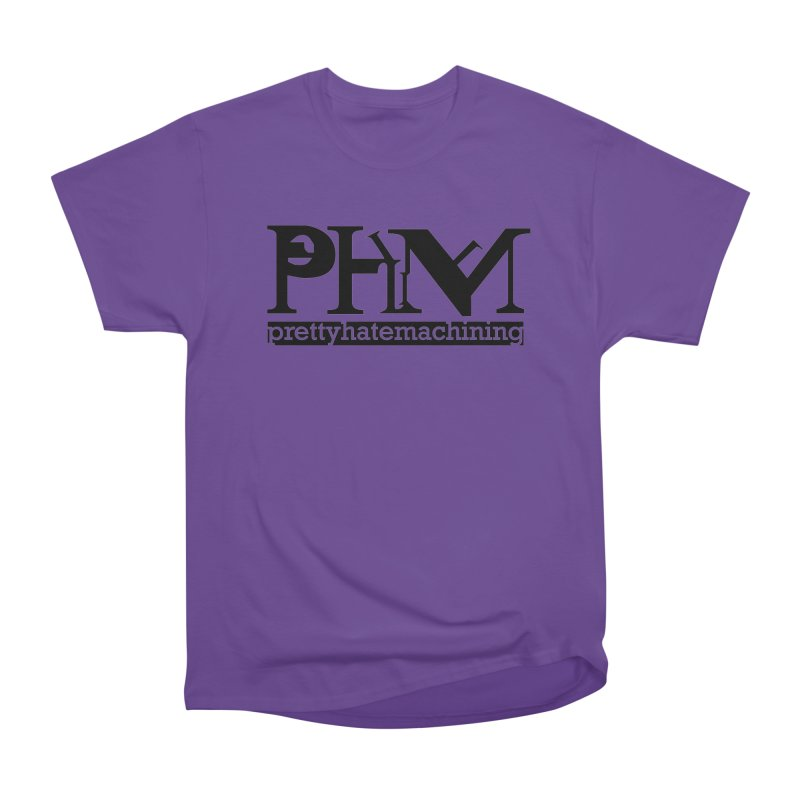Black PHM logo Men's Heavyweight T-Shirt by prettyhatemachining's Artist Shop