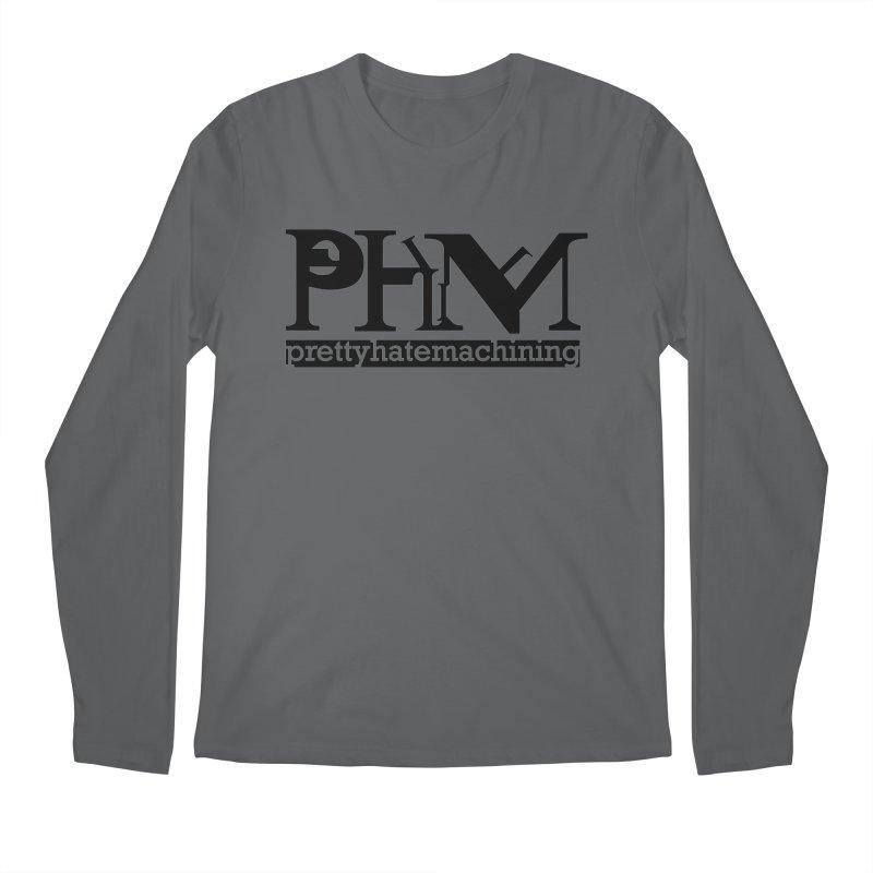 Black PHM logo Men's Regular Longsleeve T-Shirt by Pretty Hate Machining's Artist Shop