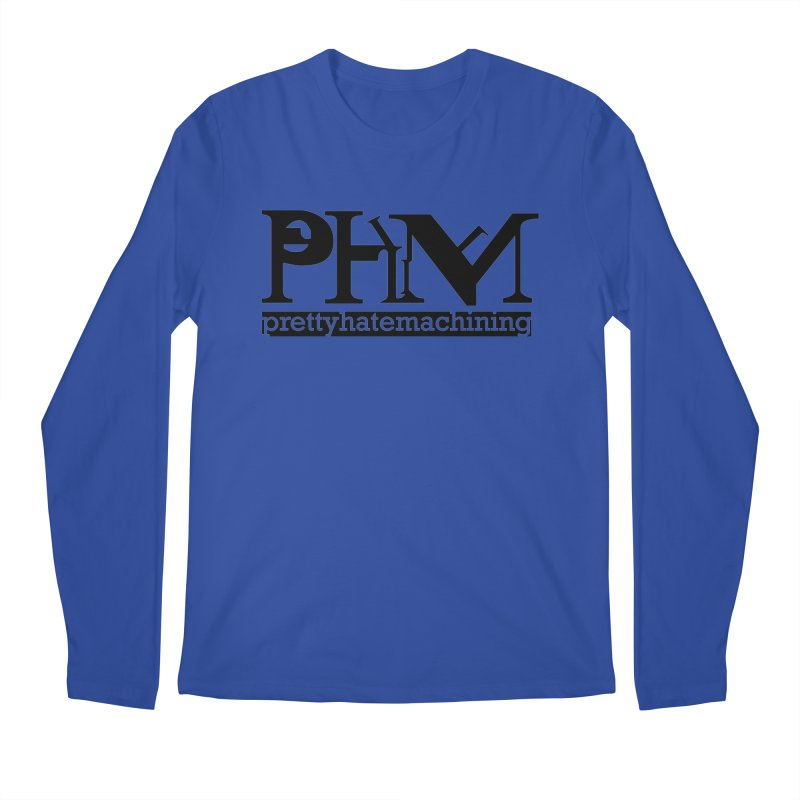 Black PHM logo Men's Regular Longsleeve T-Shirt by prettyhatemachining's Artist Shop