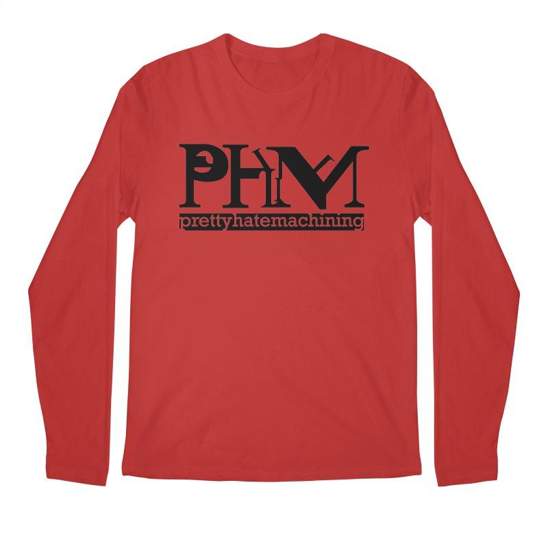 Black PHM logo Men's Regular Longsleeve T-Shirt by prettyhatemachining's Artist Shop