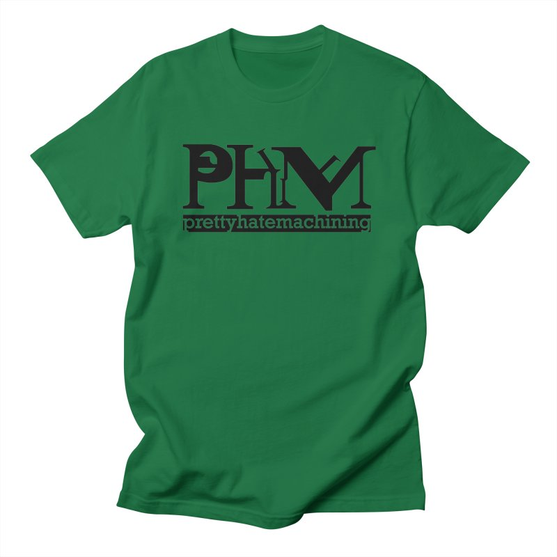 Black PHM logo Women's Regular Unisex T-Shirt by Pretty Hate Machining's Artist Shop