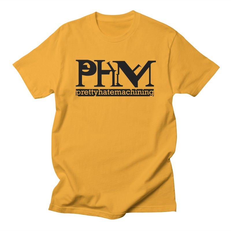 Black PHM logo Men's Regular T-Shirt by prettyhatemachining's Artist Shop