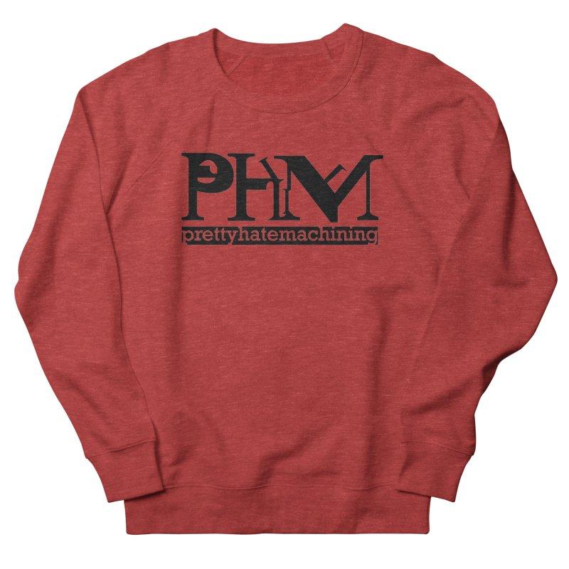 Black PHM logo Women's French Terry Sweatshirt by Pretty Hate Machining's Artist Shop