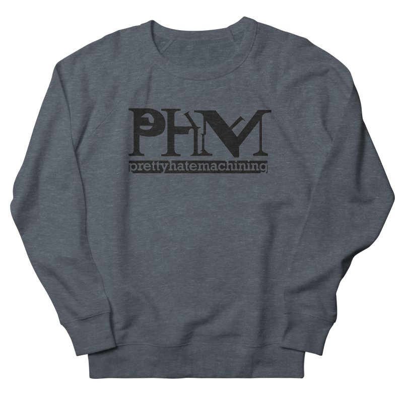 Black PHM logo Men's French Terry Sweatshirt by Pretty Hate Machining's Artist Shop