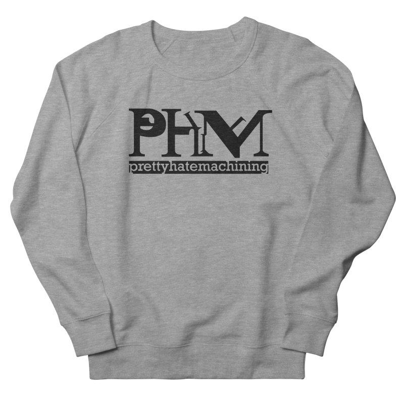 Black PHM logo Men's French Terry Sweatshirt by prettyhatemachining's Artist Shop