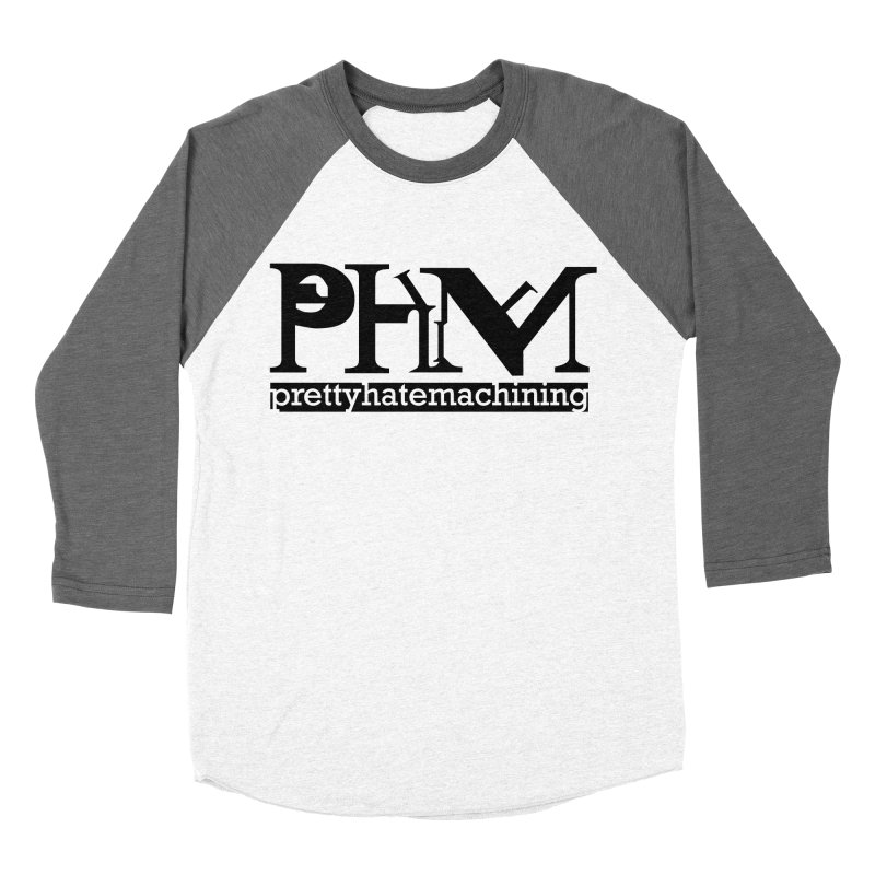 Black PHM logo Women's Baseball Triblend Longsleeve T-Shirt by prettyhatemachining's Artist Shop