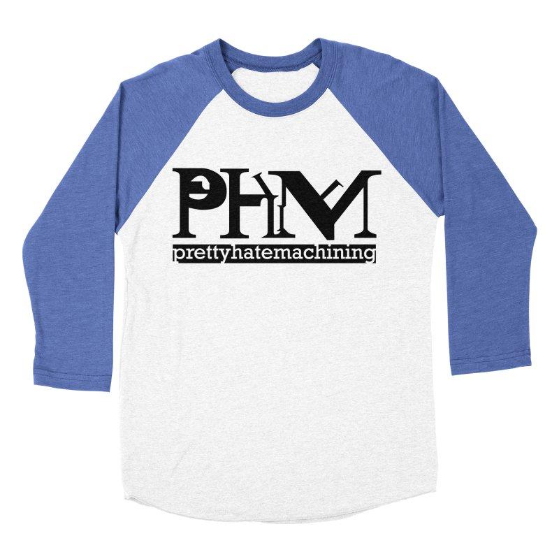 Black PHM logo Men's Baseball Triblend Longsleeve T-Shirt by prettyhatemachining's Artist Shop