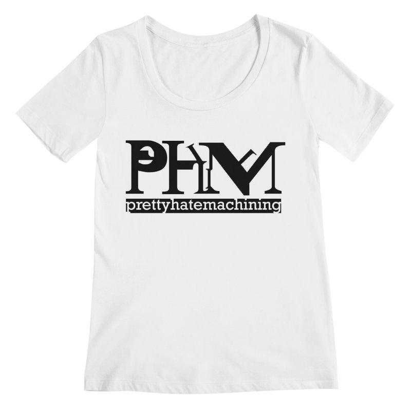 Black PHM logo Women's Regular Scoop Neck by prettyhatemachining's Artist Shop
