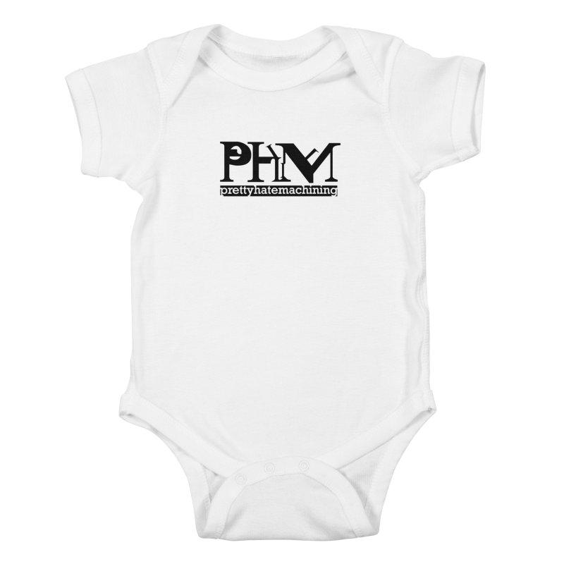 Black PHM logo Kids Baby Bodysuit by Pretty Hate Machining's Artist Shop