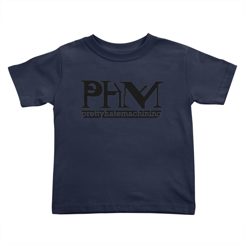 Black PHM logo Kids Toddler T-Shirt by prettyhatemachining's Artist Shop