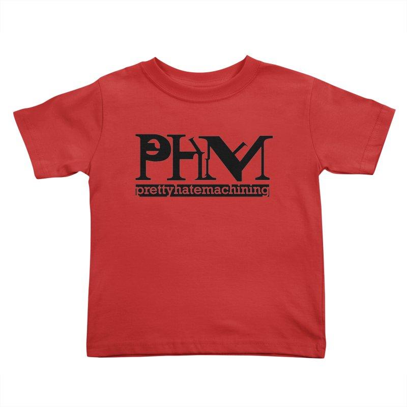 Black PHM logo Kids Toddler T-Shirt by prettyhatemachining's Artist Shop