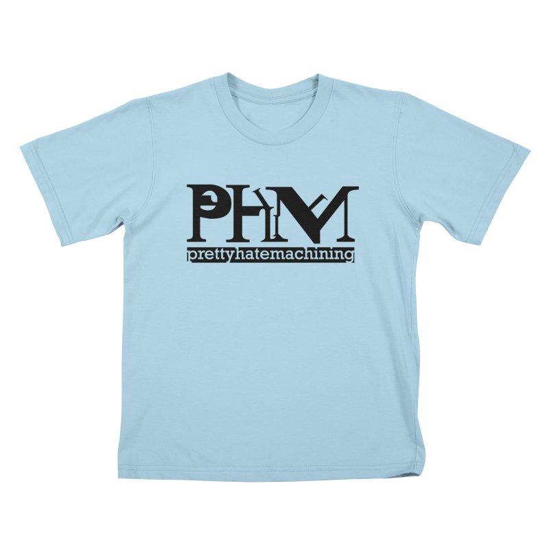 Black PHM logo Kids T-Shirt by Pretty Hate Machining's Artist Shop