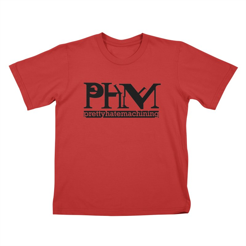 Black PHM logo Kids T-Shirt by Pretty Hate Machining's Artist Shop