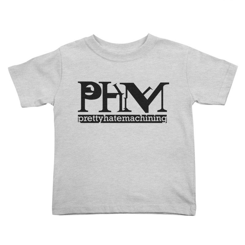 Black PHM logo Kids Toddler T-Shirt by Pretty Hate Machining's Artist Shop