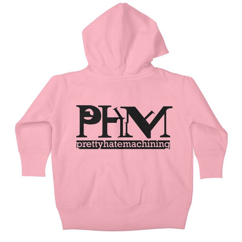 Black PHM logo Kids Baby Zip-Up Hoody by prettyhatemachining's Artist Shop