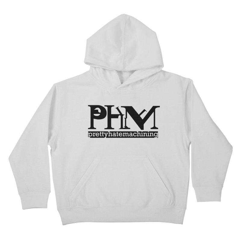 Black PHM logo Kids Pullover Hoody by prettyhatemachining's Artist Shop