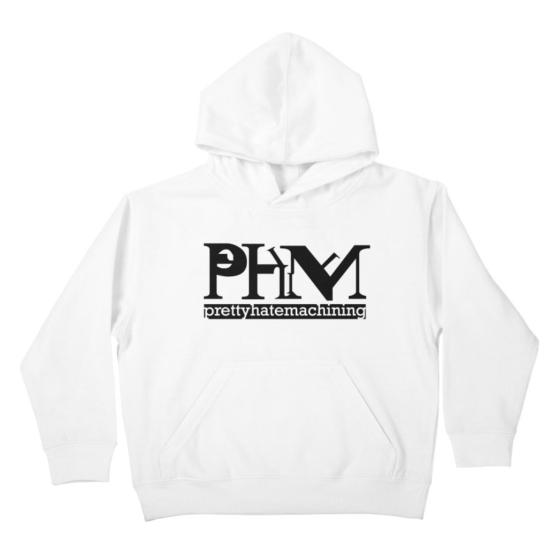Black PHM logo Kids Pullover Hoody by Pretty Hate Machining's Artist Shop