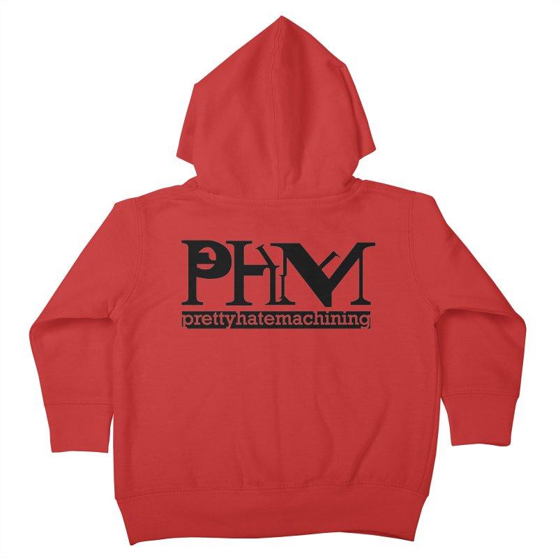 Black PHM logo Kids Toddler Zip-Up Hoody by Pretty Hate Machining's Artist Shop
