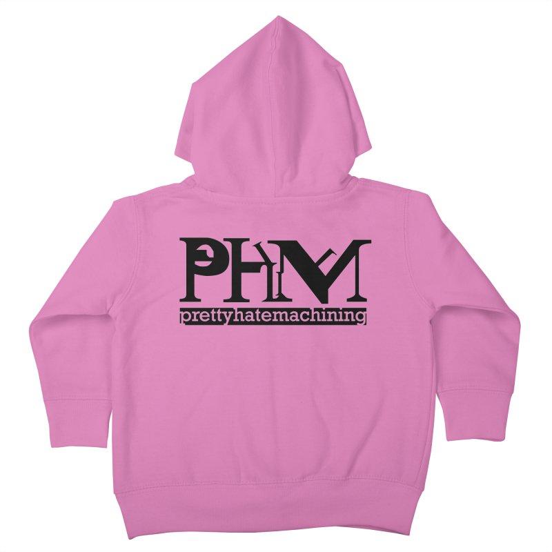Black PHM logo Kids Toddler Zip-Up Hoody by prettyhatemachining's Artist Shop