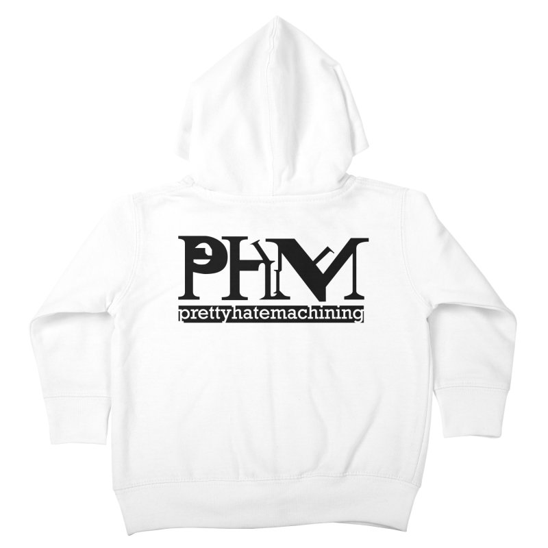Black PHM logo Kids Toddler Zip-Up Hoody by prettyhatemachining's Artist Shop