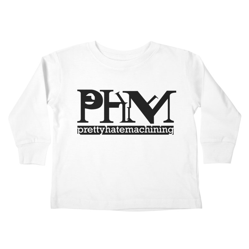Black PHM logo Kids Toddler Longsleeve T-Shirt by Pretty Hate Machining's Artist Shop