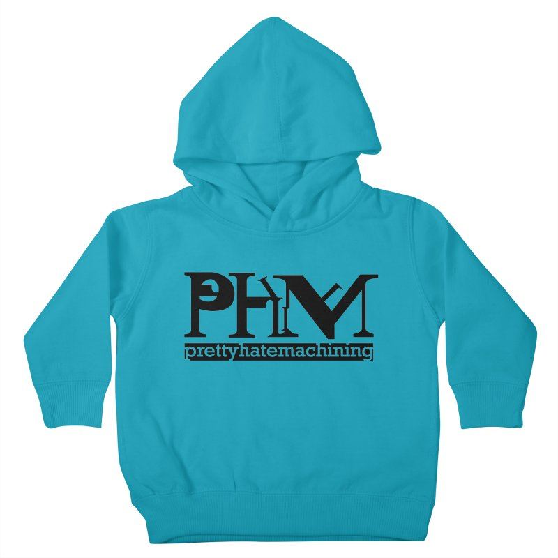 Black PHM logo Kids Toddler Pullover Hoody by Pretty Hate Machining's Artist Shop