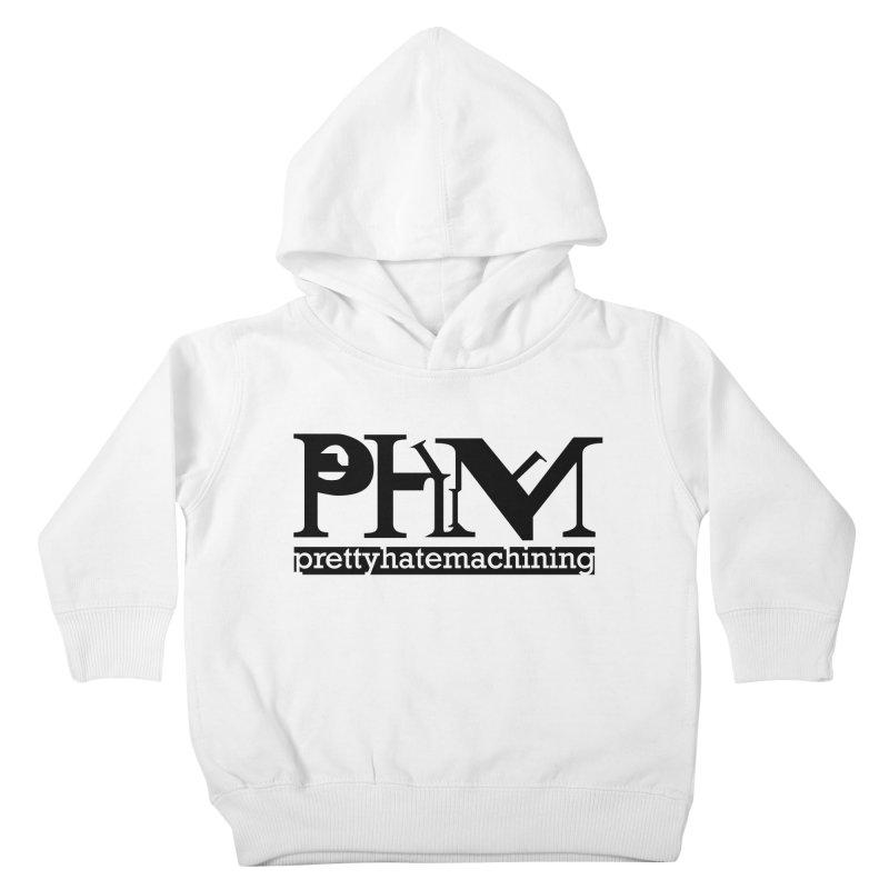 Black PHM logo Kids Toddler Pullover Hoody by prettyhatemachining's Artist Shop