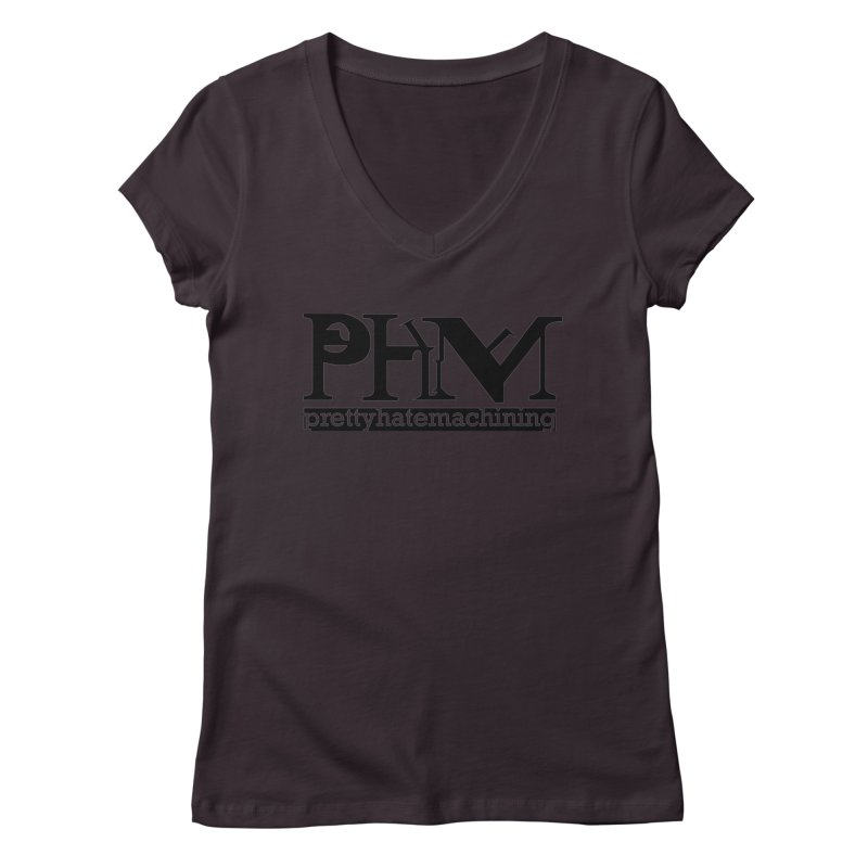 Black PHM logo Women's Regular V-Neck by Pretty Hate Machining's Artist Shop