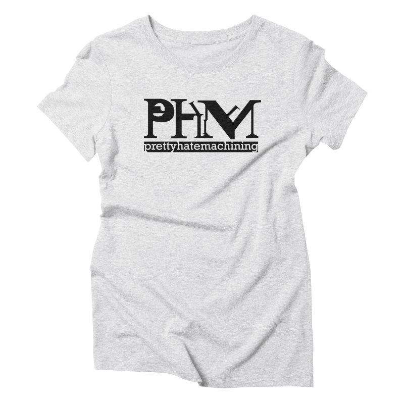 Black PHM logo Women's Triblend T-Shirt by prettyhatemachining's Artist Shop