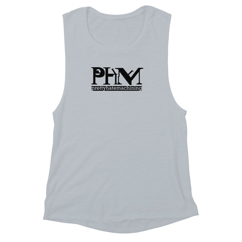 Black PHM logo Women's Muscle Tank by Pretty Hate Machining's Artist Shop