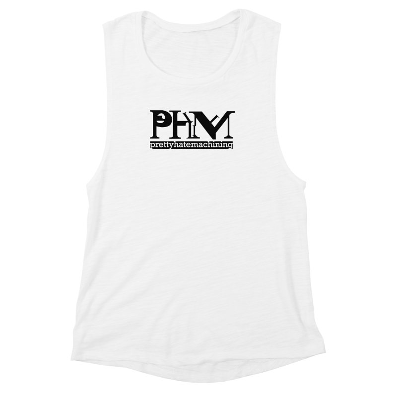 Black PHM logo Women's Muscle Tank by prettyhatemachining's Artist Shop