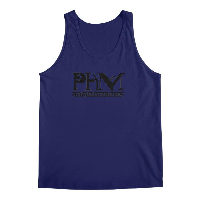 Black PHM logo Men's Regular Tank by prettyhatemachining's Artist Shop