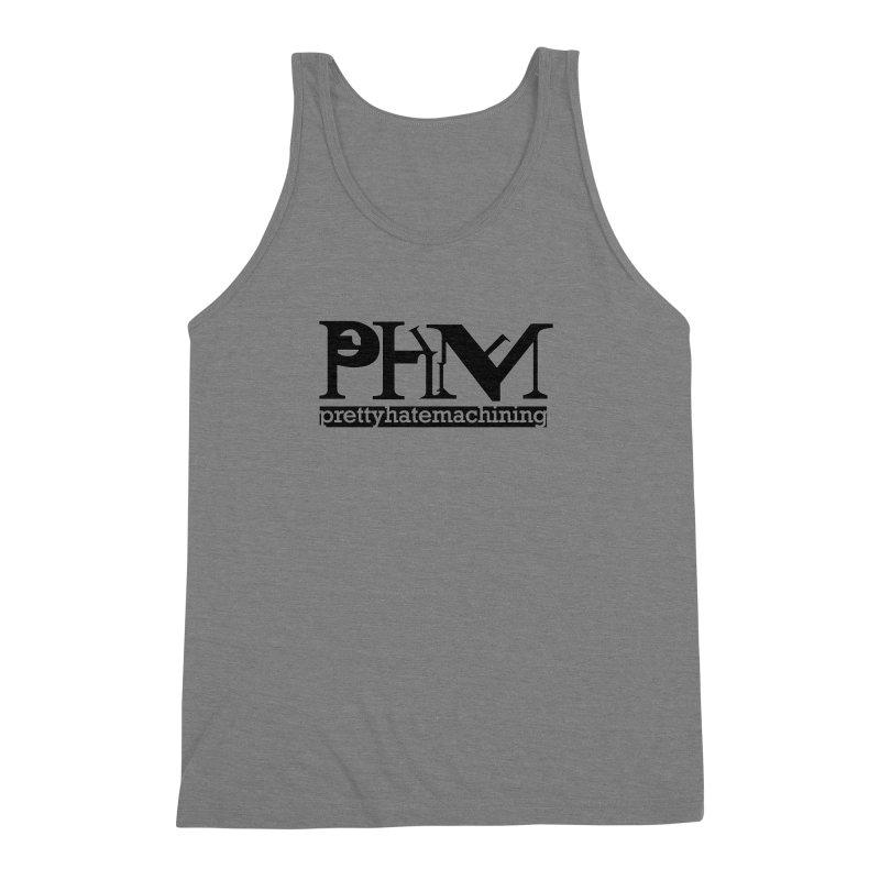 Black PHM logo Men's Triblend Tank by prettyhatemachining's Artist Shop