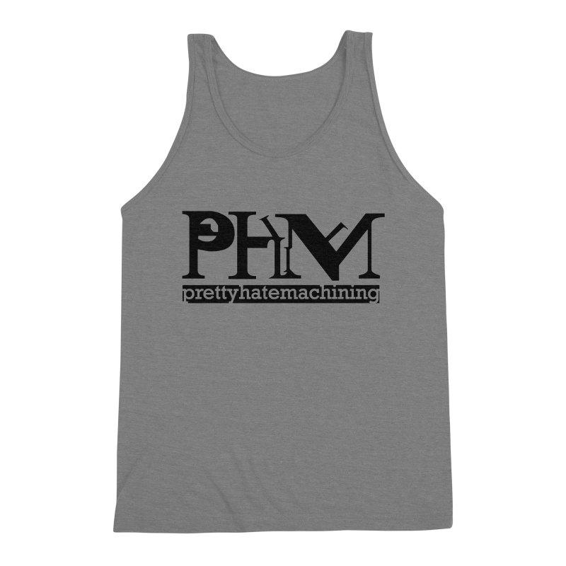 Black PHM logo Men's Triblend Tank by Pretty Hate Machining's Artist Shop