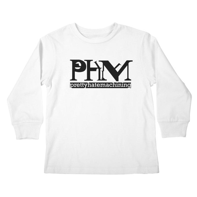 Black PHM logo Kids Longsleeve T-Shirt by prettyhatemachining's Artist Shop
