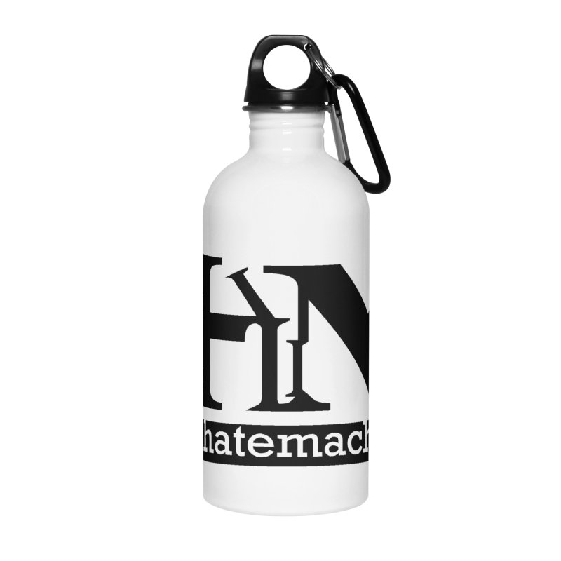 Black PHM logo Accessories Water Bottle by Pretty Hate Machining's Artist Shop