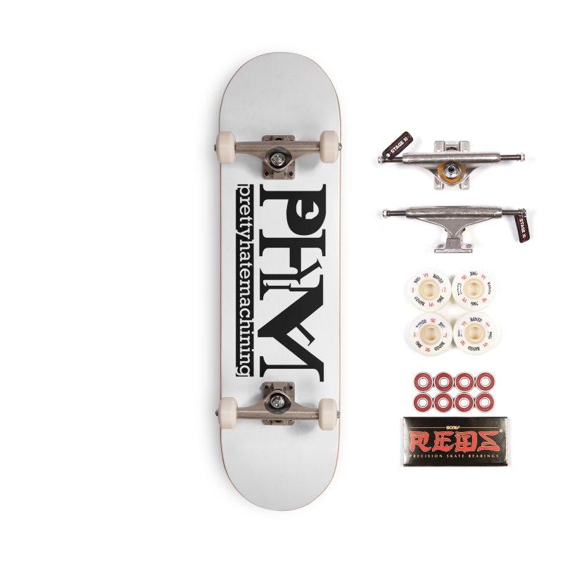 Black PHM logo Accessories Complete - Pro Skateboard by Pretty Hate Machining's Artist Shop